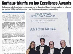 carhaus triunfa en los excellence